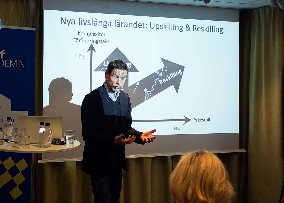 Pär Lager föreläser om reskilling och upskilling